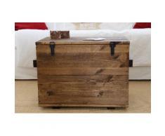 Uncle Joe´s Truhentisch Cargokiste braun Holz-Beistelltische Holztische Tische Tisch