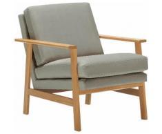 LOVI Sessel Pepper, mit hochwertigem massivem Eichengestell, neuer Klassiker zeitlosem Design grau Lovi