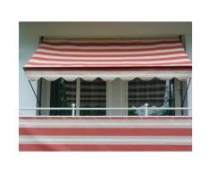 Angerer Freizeitmöbel Balkonsichtschutz Nr. 9300, Meterware, rot/beige, H: 75 cm rot Markisen Garten Balkon