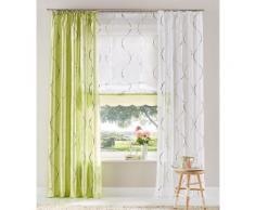 my home Raffrollo Tayma, mit Schlaufen weiß Wohnzimmergardinen Gardinen nach Räumen Vorhänge