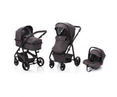 Fillikid Kombi-Kinderwagen Panther, dunkelgrau, 22 kg, mit Babyschale; Kinderwagen grau Ab Geburt Altersempfehlung