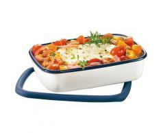 Honeyware Frischhaltedose, (1 tlg.), hitzebeständig bis 400°C - auch als Ofenform geeignet, mit Deckel, tief weiß Frischhaltedose Aufbewahrung Küchenhelfer Haushaltswaren