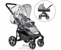 Gesslein Kombi-Kinderwagen S4 Air+, Black/Grau & Babywanne C3 Grau grau Kinder Kombikinderwagen Kinderwagen Buggies