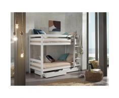 Vipack Etagenbett Pino, wahlweise mit Bettschublade weiß Kinder Kindermöbel Möbel sofort lieferbar
