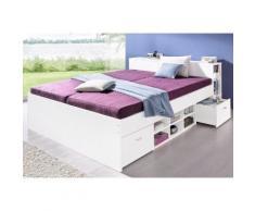 Breckle Bett, weiß, weiß