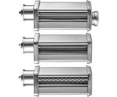Gastroback Nudelwalzenvorsatz 90763, 3 tlg. für Küchenmaschine 40977, Zubehör Design 40977 silberfarben Küchenmaschinen Haushaltsgeräte Küchenmaschinen-Aufsätze