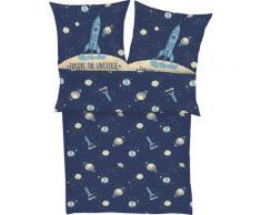 s.Oliver Kinderbettwäsche Satinbettwäsche Junior, KK 70x90 cm, gemustert blau Mako-Satin-Bettwäsche Bettwäsche nach Material Bettwäsche, Bettlaken und Betttücher