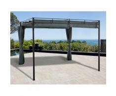 KONIFERA Pavillon Milos, (Set), BxT: 300x300 cm grau Faltpavillons Pavillons Garten Balkon