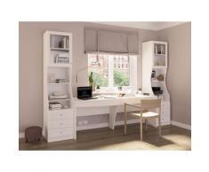 Doppelschreibtisch Austra, Austra mit 2 Schubladen weiß Schreibtische Bürotische und Büromöbel