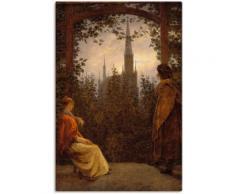 Artland Wandbild Gartenlaube. 1818., Garten, (1 St.) braun Bilder Bilderrahmen Wohnaccessoires