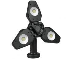 Osram LED Baustrahler, LED-Modul, 1 St., Kaltweiß, 1000 Lumen, mit Stativ, 10 W, Akku schwarz Baustrahler Wartung Werkstatt Autozubehör Reifen