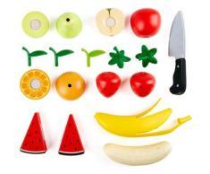 Hape Spiellebensmittel Obst-Set, aus Holz; für Kaufladen oder Kinderküche bunt Kinder Kinderküchen Zubehör