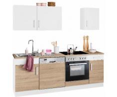 HELD MÖBEL Küchenzeile Gera, ohne E-Geräte, Breite 210 cm weiß Küchenzeilen Geräte -blöcke Küchenmöbel Arbeitsmöbel-Sets