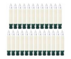 BONETTI LED-Christbaumkerzen, kabellos, 25 Kerzen plus 8 Dornen weiß LED-Lampen LED-Leuchten SOFORT LIEFERBARE Lampen Leuchten LED-Christbaumkerzen
