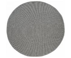 my home Teppich Timberova, rund, 5 mm Höhe, In- und Outdoor geeignet, Wohnzimmer grau Schlafzimmerteppiche Teppiche nach Räumen