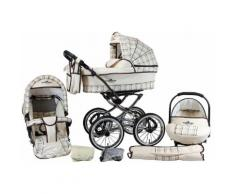 bergsteiger Kombi-Kinderwagen Venedig, classic beige, 3in1, (10-tlg.) braun Kinder Kombikinderwagen Kinderwagen Buggies