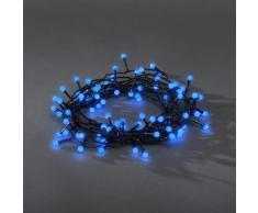 KONSTSMIDE LED-Lichterkette, 80 St.-flammig, LED Globelichterkette, runde Dioden, blaue Dioden schwarz LED-Lichterkette LED-Lampen LED-Leuchten Lampen Leuchten sofort lieferbar