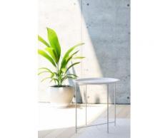 Homexperts Beistelltisch Smart, Tablett-Tisch aus Metall, 47 cm Durchmesser weiß Beistelltische Tische Tisch