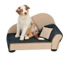 SILVIO design Tiersofa Leroy Gr. 1, BxLxH: 75x39x40 cm, anthrazitxsand grau Hundebetten -decken Hund Tierbedarf