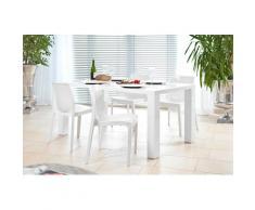 SalesFever Essgruppe, (Set, 5 St.), bestehend aus 4 modernen Kunststoffstühlen und einem 180 cm breitem Tisch weiß Essgruppen Tische Essgruppe