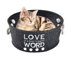 HEIM Tierkorb Love, BxLxH: 45x45x20 cm schwarz Hundebetten -decken Hund Tierbedarf