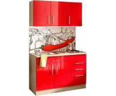 HELD MÖBEL Küchenzeile Toledo, mit E-Geräten, Breite 120 cm rot Küchenzeilen Geräten -blöcke Küchenmöbel