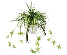 I.GE.A. Kunstpflanze Wasserlilie (1 Stück) grün Künstliche Zimmerpflanzen Kunstpflanzen Wohnaccessoires