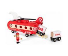 """BRIO Spielzeug-Hubschrauber """"BRIO WORLD Eisenbahn-Transporthubschrauber"""", rot, Unisex, rot"""