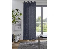 DELAVITA Vorhang FLOWER blau Übergardinen Gardinen Vorhänge