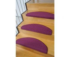 Living Line Stufenmatte Trend, halbrund, 8 mm Höhe, große Farbauswahl, Velours, 15 Stück in einem Set lila Stufenmatten Teppiche