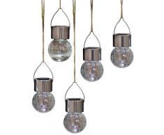 Gartenleuchte GLASPERLE silberfarben Gartenleuchten Außenleuchten Lampen Leuchten