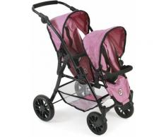 "CHIC2000 Puppen-Zwillingsbuggy ""Twinny pink"", rosa, pink"
