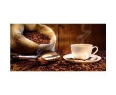 Home affaire Glasbild S. Cunningham: Kaffeetasse und Leinensack mit Kaffeebohnen braun Glasbilder Bilder Bilderrahmen Wohnaccessoires