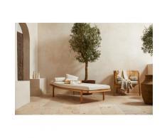 LeGer Home by Lena Gercke Polsterbank Celia, mit Polsterauflage und Kissenrolle, Relaxliege Massivholzgestell Daybett beige Polsterbänke Sitzbänke Stühle