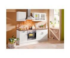 Küchenzeile Athen mit E-Geräten Breite 210 cm, weiß, Weiß/Weiß