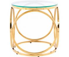 Kayoom Beistelltisch Whitney 125, randlose Tischplatte farblos Beistelltische Tische