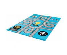 Kinderteppich, Bambino 2115, Sanat, rechteckig, Höhe 12 mm, maschinell gewebt blau Kinder Bunte Kinderteppiche Teppiche