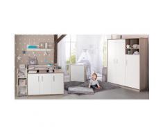 roba Babyzimmer-Komplettset Olaf (Set, 3-tlg) weiß Baby Baby-Möbel-Sets Babymöbel Schlafzimmermöbel-Sets