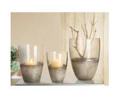 GILDE Windlicht Glas farblos Kerzenhalter Kerzen Laternen Wohnaccessoires