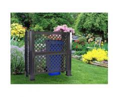 KHW Spalier, Sichtschutz für Mülltonen, BxTxH: 110x119x49 cm grau Spaliere Gartendekoration Gartenmöbel Gartendeko Spalier