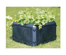 KHW Komposter Bio Quick Aufbauset schwarz Garten Balkon