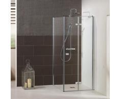 Dusbad Eckdusche Vital 1, Drehfalttür mit Seitenwand farblos Duschkabinen Duschen Bad Sanitär Bodenablauf