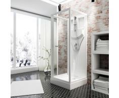 Schulte Komplettdusche Juist, inklusive Armatur weiß Duschkabinen Duschen Bad Sanitär