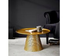 Schneider Beistelltisch Dave, Rund goldfarben Beistelltische Tische