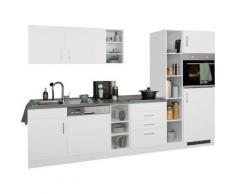 HELD MÖBEL Küchenzeile Paris, ohne E-Geräte, Breite 290 cm weiß Küchenzeilen Küchenblöcke Küchenmöbel Möbel sofort lieferbar