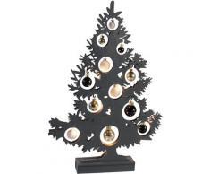 näve LED Dekoobjekt BAUM, LED-Board, Warmweiß, Höhe 50 cm grau Deko-Objekte Figuren Skulpturen Wohnaccessoires