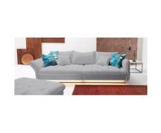 INOSIGN Big-Sofa, silberfarben, Neutral, Struktur fein