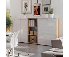 GERMANIA Büro-Set GW-Monteria (Set, 3-tlg) weiß Arbeitszimmer Büro Made in Germany - Möbel Arbeitsmöbel-Sets
