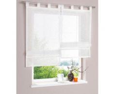 my home Raffrollo Regina, mit Schlaufen beige Wohnzimmergardinen Gardinen nach Räumen Vorhänge