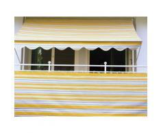 Angerer Freizeitmöbel Balkonsichtschutz, Meterware, gelb/grau, H: 75 cm gelb Markisen Garten Balkon Balkonsichtschutz
